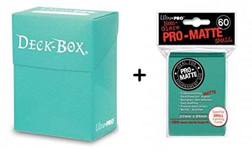 Ultra Pro Deck Box + 60 Small Size Protector Sleeves - Türkis - Aqua - Yu-Gi-Oh! - Japanese Mini