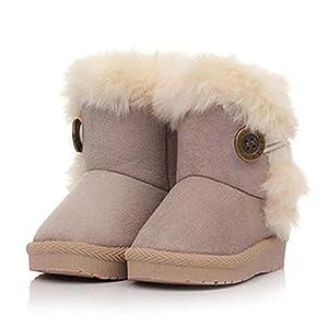 Ceanfly Mädchen Schneestiefel Rutschfeste Winterstiefel Winter Stiefeletten Schlupfstiefel Boots Warme Winterschuhe
