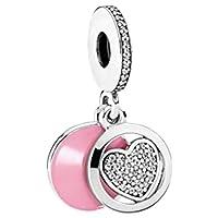 Pandora Women's Heart Dangle Charm - Silver Plated