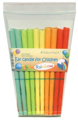 Naturhelix Kinder-Ohrkerzen in Regenbogenfarben mit Kamillenöl - 10er-Packung