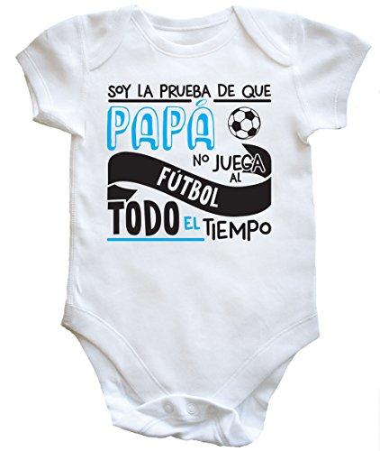 HippoWarehouse Soy La Prueba de Que Papá No Juega al Fútbol Todo El Tiempo body bodys pijama niños niñas unisex