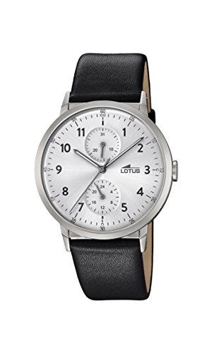 Lotus Watches Mens Multi dial Quartz Watch with Leather Strap 18509/1