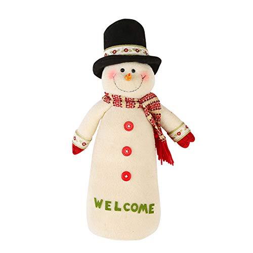 fake kamin deko Igemy Pädagogisches Puppen Weihnachtsschneemann Plüschspielzeug (A)