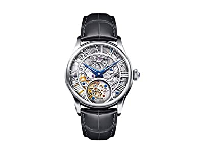 Women's MO0612 Silver Plated Skeleton Dial Tourbillon Watch