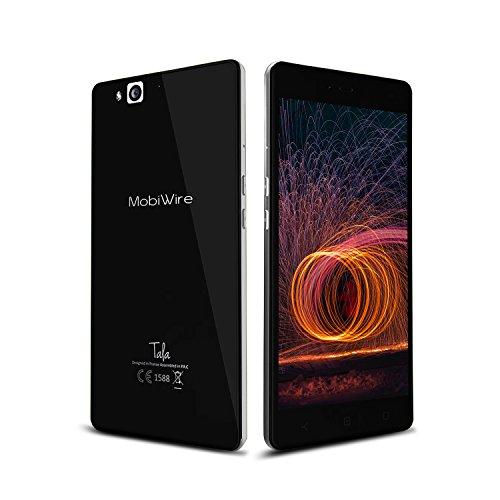 Smartphone Ohne Vertrag, Mobiwire Tala 4G Dual Sim Handys ( 5,5 Zoll FHD, CPU-Mediatek Helio P10 Octa-Kern, Doppelseitiges Corning-Glas, Plus-Metallgehäuse, 3GB RAM + 32GB ROM, Akku mit 3000mAh )- Schwarz