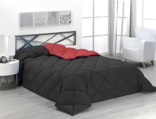 Sabanalia ENBI400-135R/N - Edredón nórdico de 400 g, para cama de 135 cm, color rojo y negro
