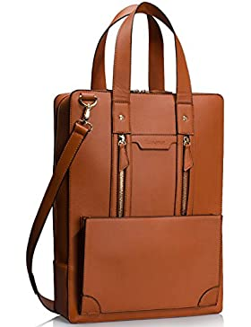 Estarer Damen Aktentasche Bürotasche 15.6 Zoll Laptop Tasche in PU-Leder