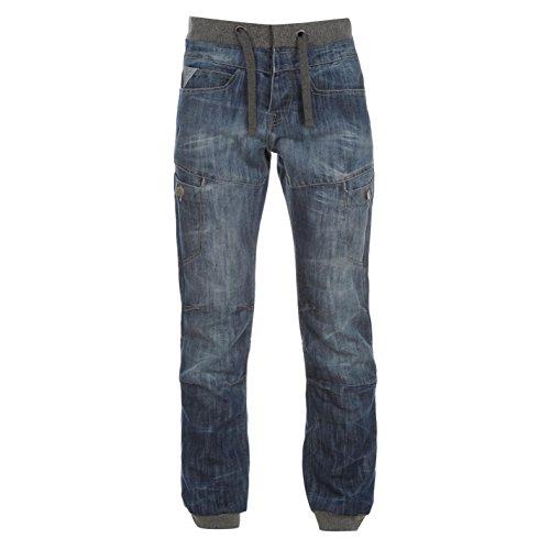 airwalk-mens-cuffed-jeans-denim-pants-trousers-drawstring-casual-comfort-mid-wash-36w-l