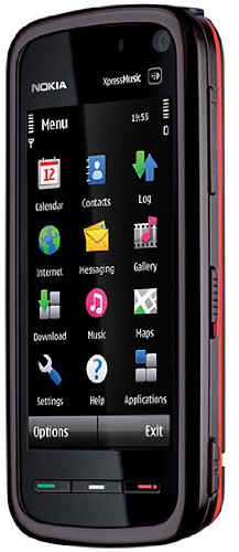 Nokia 5800 XpressMusic red (GPS, 3,2 MP, WLAN, EDGE, HSDPA, UMTS, MP3) Handy ohne Vertrag, Vodafone-Branding