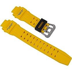 Casio G-shock correa de poliuretano amarillo