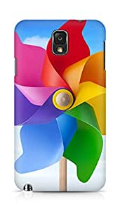 Amez designer printed 3d premium high quality back case cover for Samsung Galaxy Note 3 (Great color windmill)