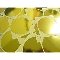 """65mm (2.6"""") Redondo Circular Código De color Pegatinas - Paquetes de 25 Grande de color Círculos, Etiquetas Adhesivas - 32 Colores Disponible - Oro Brillante"""