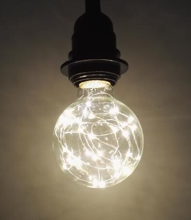 FSLiving E27 vintage light bulb 1.7W decorative Edison light home bar decor warm light