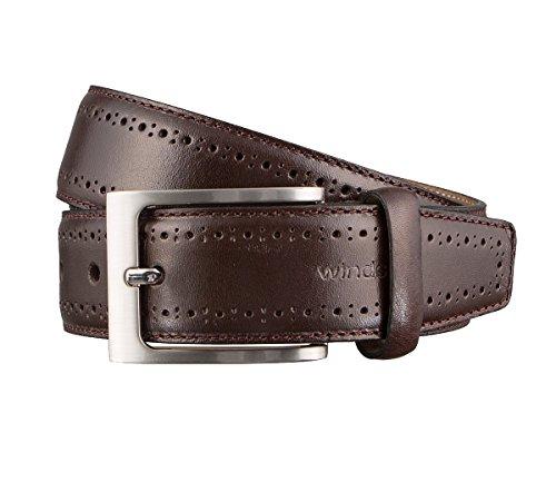 Windsor. Gürtel Herrengürtel Ledergürtel Braun 3172, Farbe:Braun, Länge:95 cm