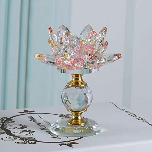 WXQDD-Candlestick Kristall Lotus Kerzenständer Halter Feng Shui Schüssel Teelicht Kerzenhalter Für Kandelaber Mittelstücke Hochzeit Home Bar Party Decor