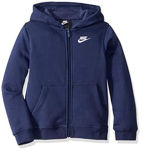 Nike Jungen Sportswear Full-Zip Club Hoody, Midnight Navy/Midnight Navy/White, L