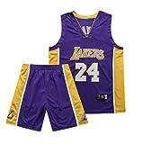 QZH Maglia NBA Kobe Bryant Adulto/Bambino/Teenager 8 24 Maglia Los Angeles, Ricamo Artigianale,2,M