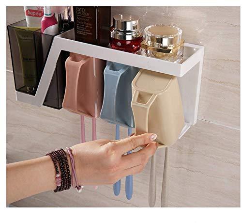 ZGYYzjp Zahnbürste Rack Saug Wand hängen Becher frei Stanzen Bad elektrische Zahnbürste Tasse Set Lagerregal