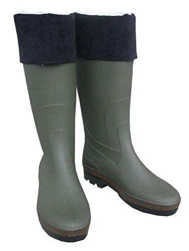 Stivali in gomma PVC con tessuto fodera