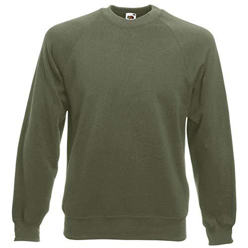 Fruit of the Loom: Raglan Sweatshirt 62-216-0, Größe:2XL;Farbe:Classic Olive -