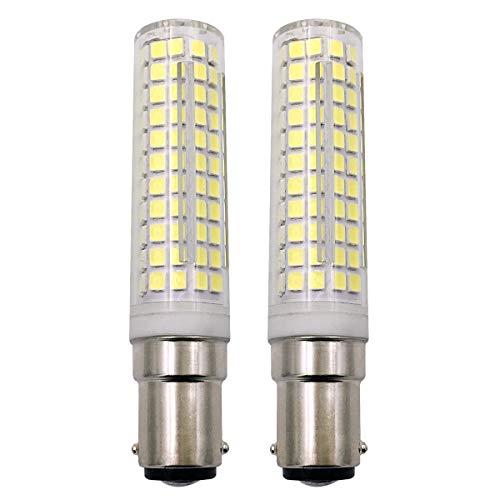 B15D LED Glühbirne, 7W 100W Halogen-Equivalent SBC Kleine Bajonett LED-Birnen, 230V Nicht dimmbar Super Hell Kaltweiß 6500K, Für Nähmaschinen/Schrank Licht, 2er Pack [MEHRWEG] -