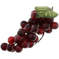 Sharplace Modelo UVA Fruta Falsa Artificial para Exhibición Tabla Ventana Gabinete Cocina - Uvas Púrpura 36