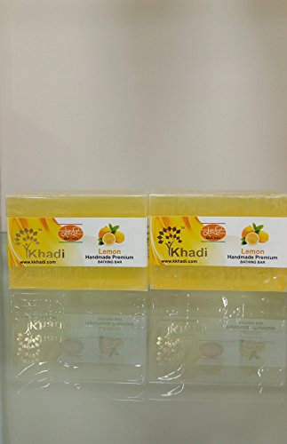 Khadi Premium Quality Lemon Soap Pack Of 2  available at amazon for Rs.111