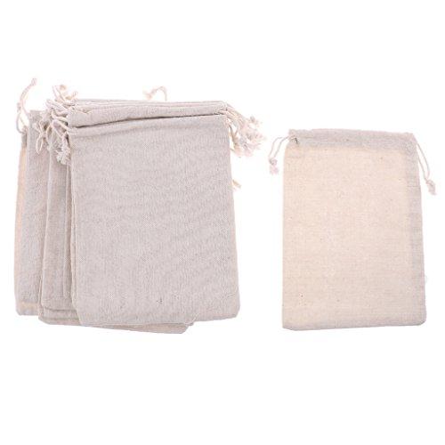 Sharplace 12pcs Stoffbeutel zum Bemalen Kleine Tasche Beutel Geschenktüten Geburtstagstüten - Größe wählbar - 15 x 20 cm