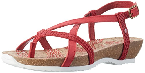 Panama Jack Daria Snake, Sandales Bout Ouvert Femme Rouge (Red)