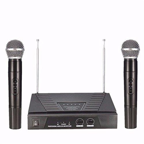 Dual Handheld VHF Wireless Radio Microphone with Receiver for KTV Music Dual-handheld-radio