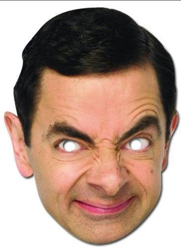 Mr Bean Cardboard Face Mask - Single