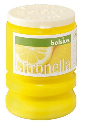 Bolsius 8717847020833 Candela a Lumino da Party alla Citronella, Cera, Giallo, 6.5 x 6.5 x 8.5 cm