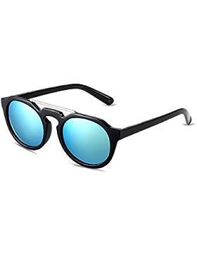 Ilove EU Mujer Gafas de sol retro vintage redondas vasos Completo borde Wayfarer conducción Rana espejo gafas...