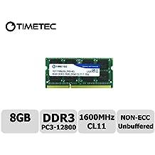 Timetec® (P/N 76TT16NUSL2R8-8G) 8GB Dual Rank 1600MHz DDR3 (PC3-12800) Non-ECC