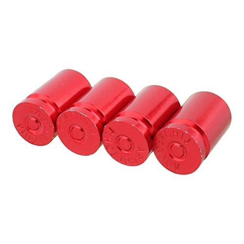TOMALL Bullet Shell Cappucci per valvole Alluminio rosso per camion automobilistico Bici 4 pezz