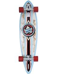 """Maple Badge Longboard complet Bois/Rouge/Noir/Bleu 38""""x9,5"""""""