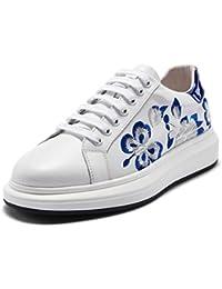 Herren Dicksohlen Casual Board Schuhe Mode Bestickt Wild White Schuhe Jugend Outdoor Sports Schuhe Turnschuhe