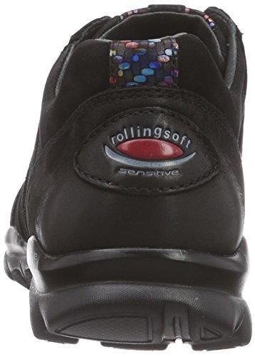 Gabor Shoes 36.962 Damen Low-Top Sneaker Schwarz (schwarz/multic. 20)