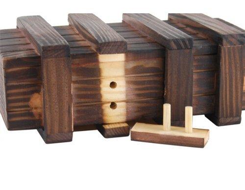 tfrdertuuigf caja mágica de madera con cajón secreto extra para juguetes educativos