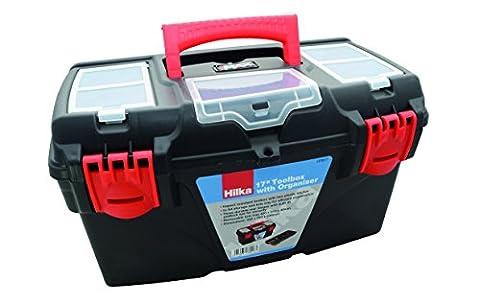 Hilka Tools htb1743,2cm Toolbox + Organizer, Schwarz (Hinten Werkzeugkasten)