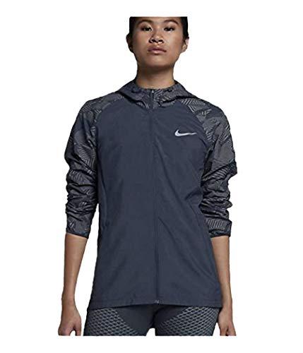 Nike Damen Essential Flash Laufjacke - blau - Groß