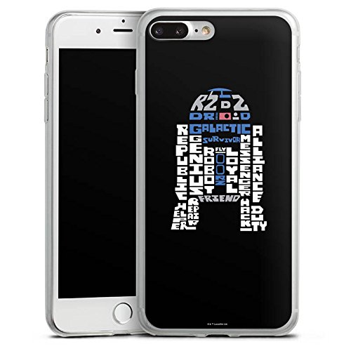 Apple iPhone 7 Slim Case Silikon Hülle Schutzhülle Star Wars Merchandise Fanartikel R2-D2 Typo Silikon Slim Case transparent