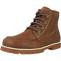 Camper Compas Medium Brown Leather Infant Chelsea Boots