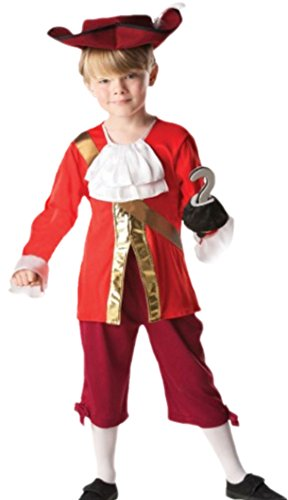 Hook Captain Kostüme Boys (erdbeerloft - Jungen Captain Hook Kostüm, Karneval, Fasching, 110,)