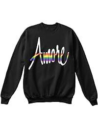 teespring Sudadera Hombre - - LGBT Gay Pride Rainbow Flag Amore