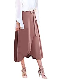 869e09426115 Röcke Damen Elegant Sommerrock Große Größen High Waist Irregular Hem Mit  Schlitz Rock A Linie Classic