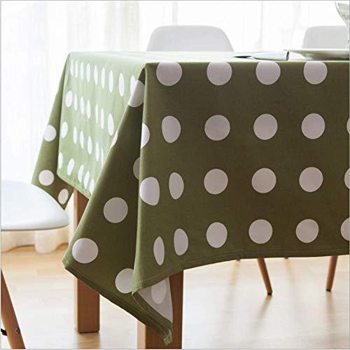 GUOAI Polka Dot Design Tischdecke Geburtstag Hochzeit Dekoration Polka Dot Tischdecke Rot GrüN Punkt Thema Tischdecke,greenwavepoint,110 * 170cm (Rot Polka Dot Tischdecke)