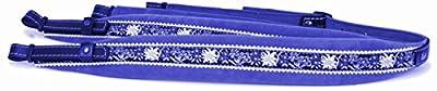 "Alpenland Harmonikariemen Edelweiss""Star"" blau 5,5 cm breit"