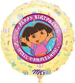Dora the Explorer Birthday 18 Foil Balloon by Dora the Explorer (The Explorer Dora Birthday)