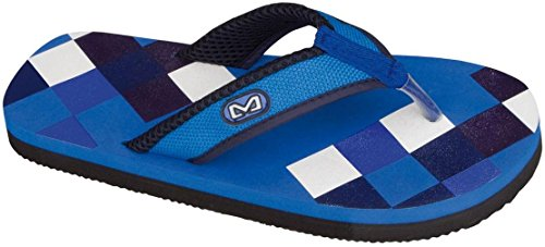 Schreuders sport stampa infradito Aqua/Navy Blue/Blue/Denim Blue